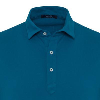Germirli - Germirli Petrol Yeşili Gömlek Yaka Polo Tailor Fit T-Shirt (1)