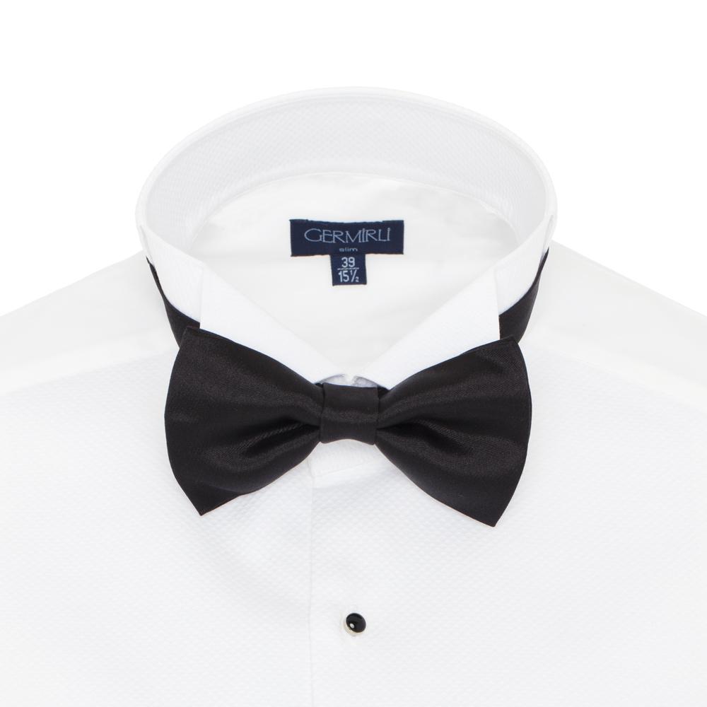 Germirli - Germirli Black Silk Bow Tie