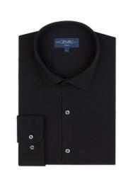 Germirli - Germirli Siyah Pamuklu 3D Streç Slim Fit Active Gömlek (1)