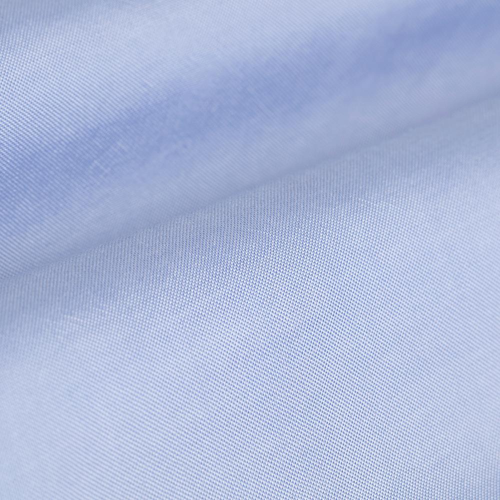 Germirli Tencel Mavi Panama Düğmeli Yaka Tailor Fit Wooderful Gömlek