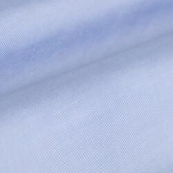 Germirli Tencel Mavi Panama Düğmeli Yaka Tailor Fit Wooderful Gömlek - Thumbnail