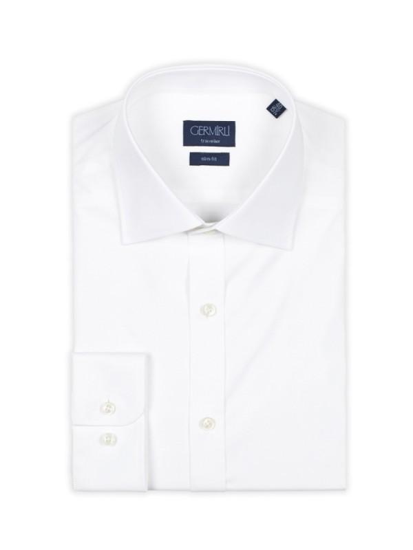 Germirli - Germirli Traveller Klasik Yaka Slim Fit Beyaz Gömlek (1)