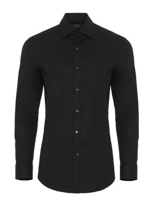 Germirli Traveller Semi Spread Slim Fit Black Shirt