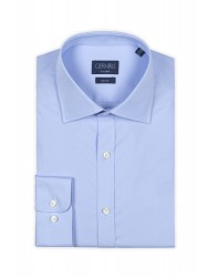 Germirli Traveller Semi Spread Slim Fit Blue Shirt - Thumbnail