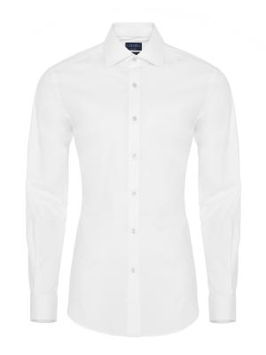 Germirli Traveller Semi Spread Slim Fit White Shirt
