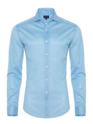Germirli - Germirli Turkuaz Klasik Yaka Piquet Örme Slim Fit Gömlek