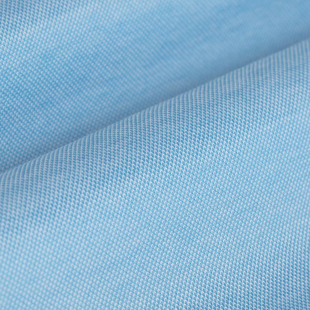 Germirli Turkuaz Klasik Yaka Piquet Örme Slim Fit Gömlek