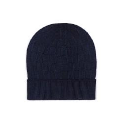 Germirli - Germirli Vintage Lacivert Kare Dokulu Şapka