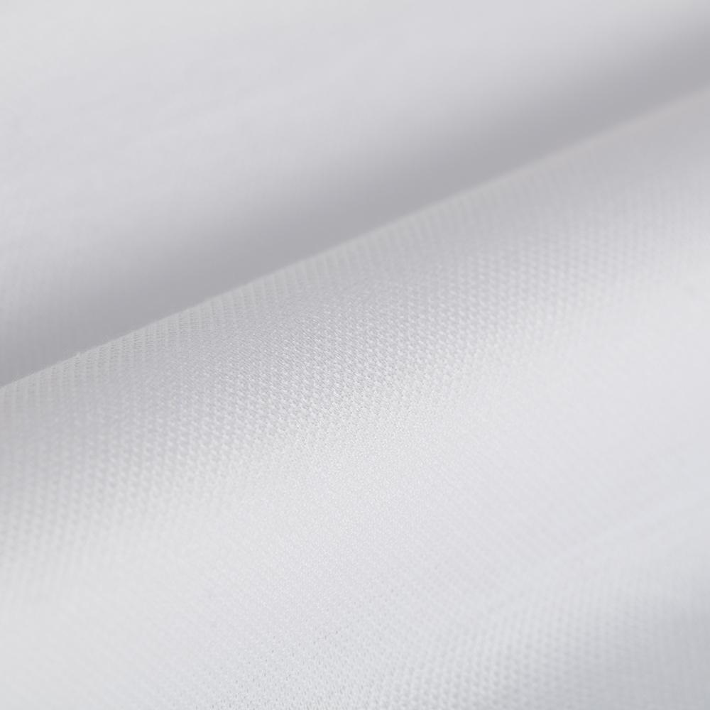Germirli White Semi Spread Collar Piquet Knitted Slim Fit Shirt