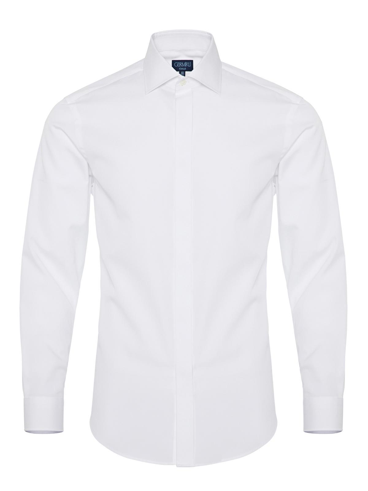 Germirli White Semi Spread Tailor Fit Shirt