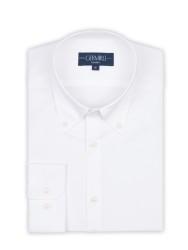 Germirli - Germirli X-Thermotech Beyaz Oxford Düğmeli Yaka Tailor Fit Gömlek (1)