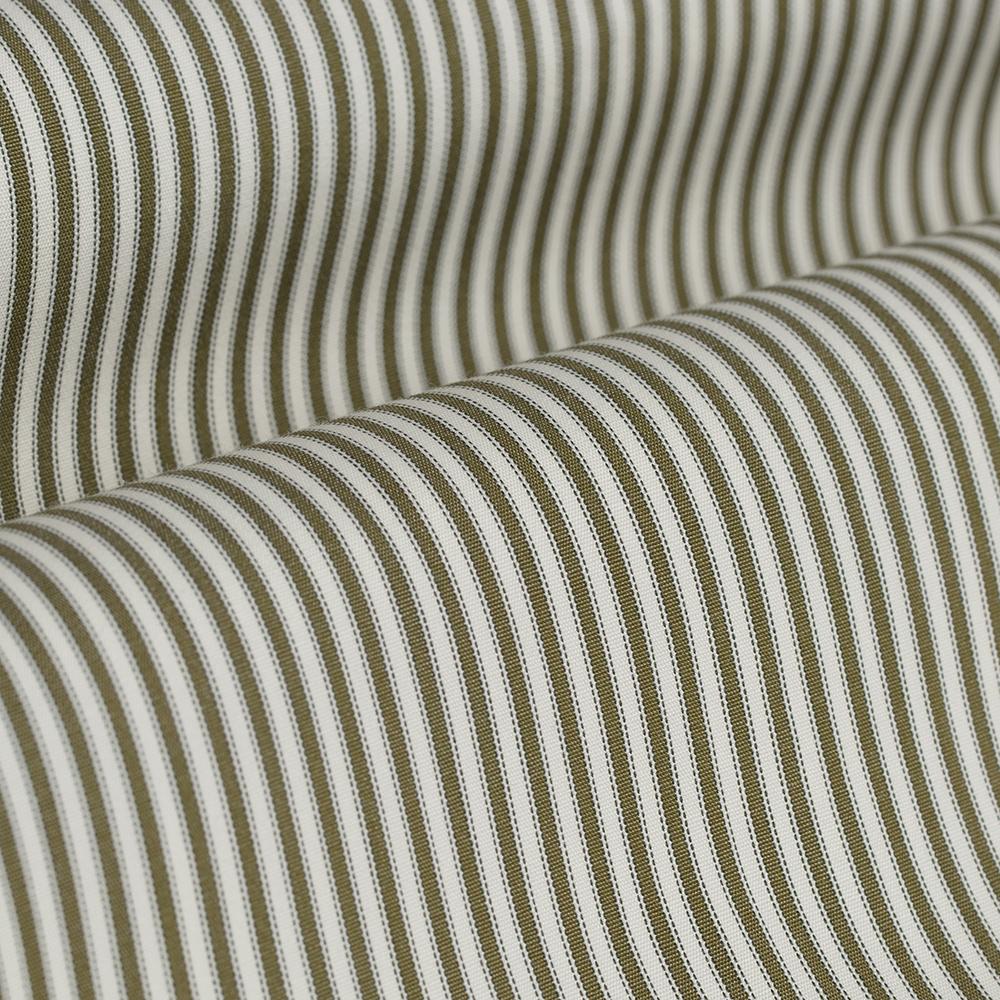 Germirli Yeşil Beyaz İnce Çizgili Düğmeli Yaka Tailor Fit Gömlek