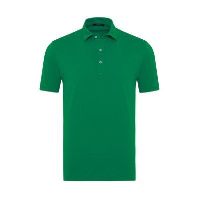Germirli Yeşil Gömlek Yaka Polo Tailor Fit T-Shirt