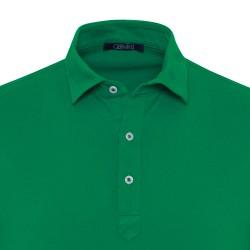 Germirli Yeşil Gömlek Yaka Polo Tailor Fit T-Shirt - Thumbnail