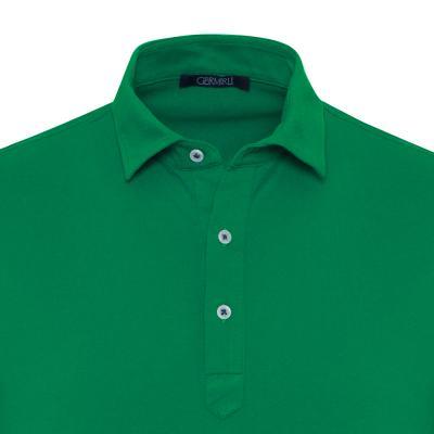 Germirli - Germirli Yeşil Gömlek Yaka Polo Tailor Fit T-Shirt (1)