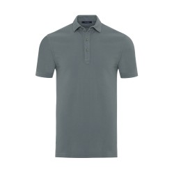 Germirli - Germirli Yeşil Gömlek Yaka Polo Vintage Tailor Fit T-Shirt