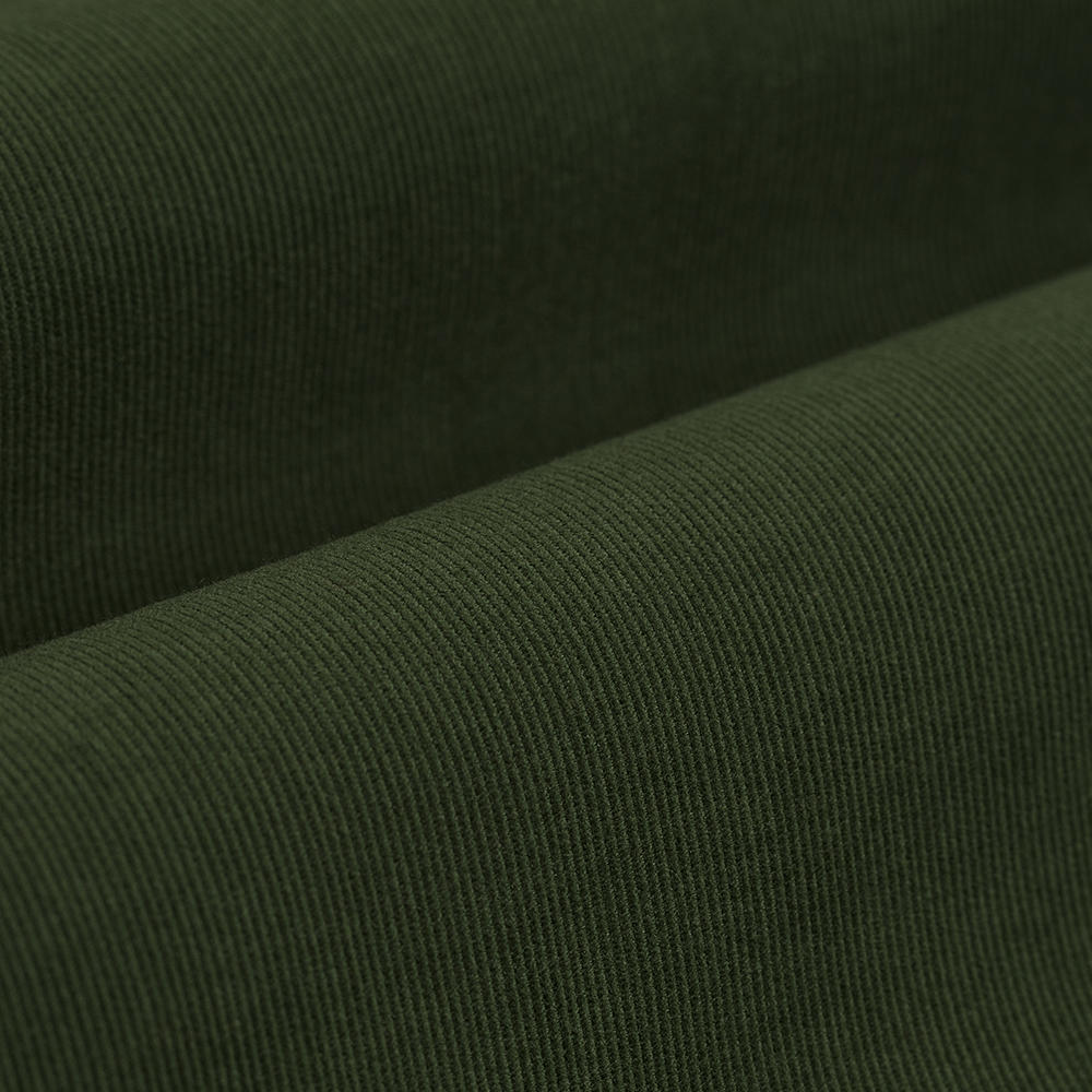 Germirli Yeşil Kadife Düğmeli Yaka Tailor Fit Gömlek