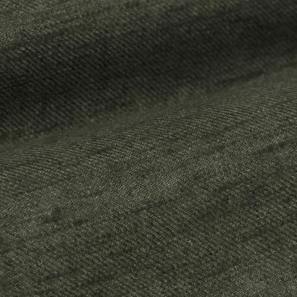 Germirli Yeşil Keten Flanel Doku Düğmeli Yaka Tailor Fit Gömlek
