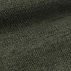 Germirli Yeşil Keten Flanel Doku Düğmeli Yaka Tailor Fit Gömlek - Thumbnail