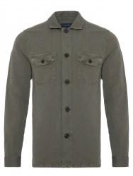 Germirli - Germirli Yeşil Vintage Keten Tailor Fit Ceket Gömlek (1)