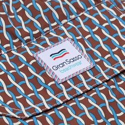 Gran Sasso - Gran Sasso Fancy Kahverengi Mavi Beyaz Polyamide Mayo (1)