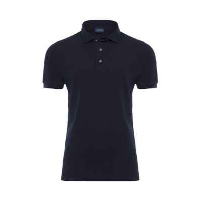 Germirli - Germirli Gömlek Yaka Garnili Lacivert Polo T-Shirt