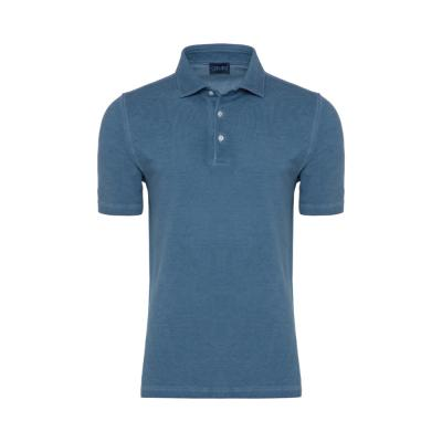 Germirli - Germirli Gömlek Yaka İndigo Mavi Polo T-Shirt