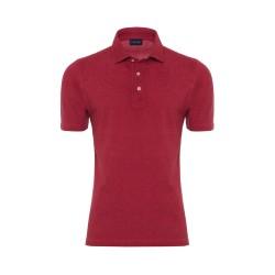 Germirli Gömlek Yaka Kiremit Polo T-Shirt - Thumbnail