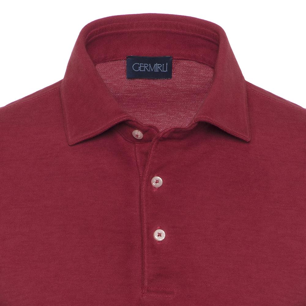 Germirli Gömlek Yaka Kiremit Polo T-Shirt