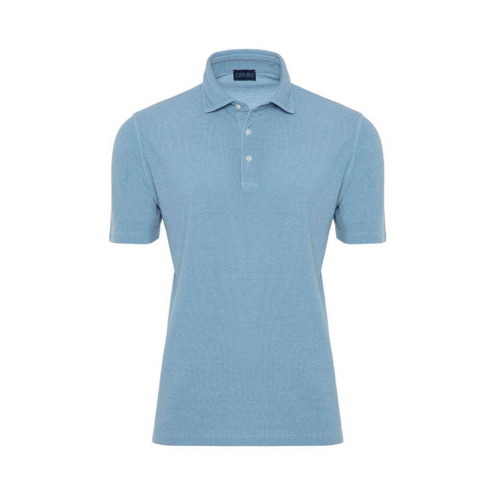 Germirli Gömlek Yaka Mavi Polo T-Shirt