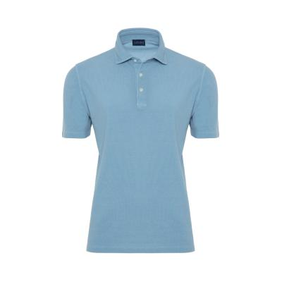 Germirli - Germirli Gömlek Yaka Mavi Polo T-Shirt