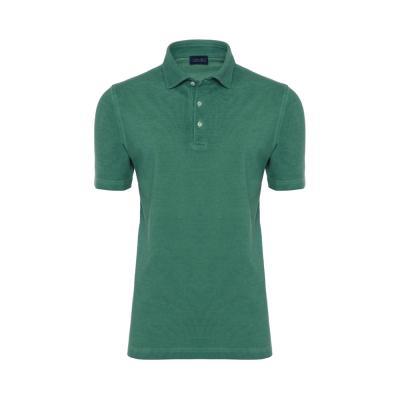 Germirli Gömlek Yaka Yeşil Polo T-Shirt