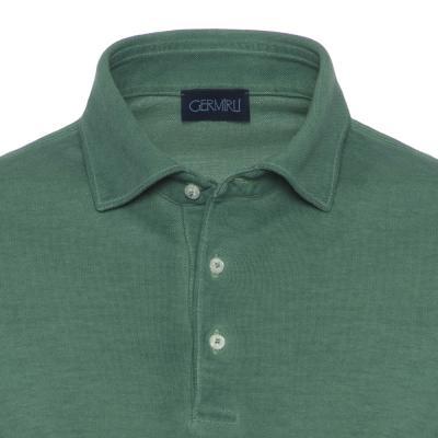 Germirli - Germirli Gömlek Yaka Yeşil Polo T-Shirt (1)