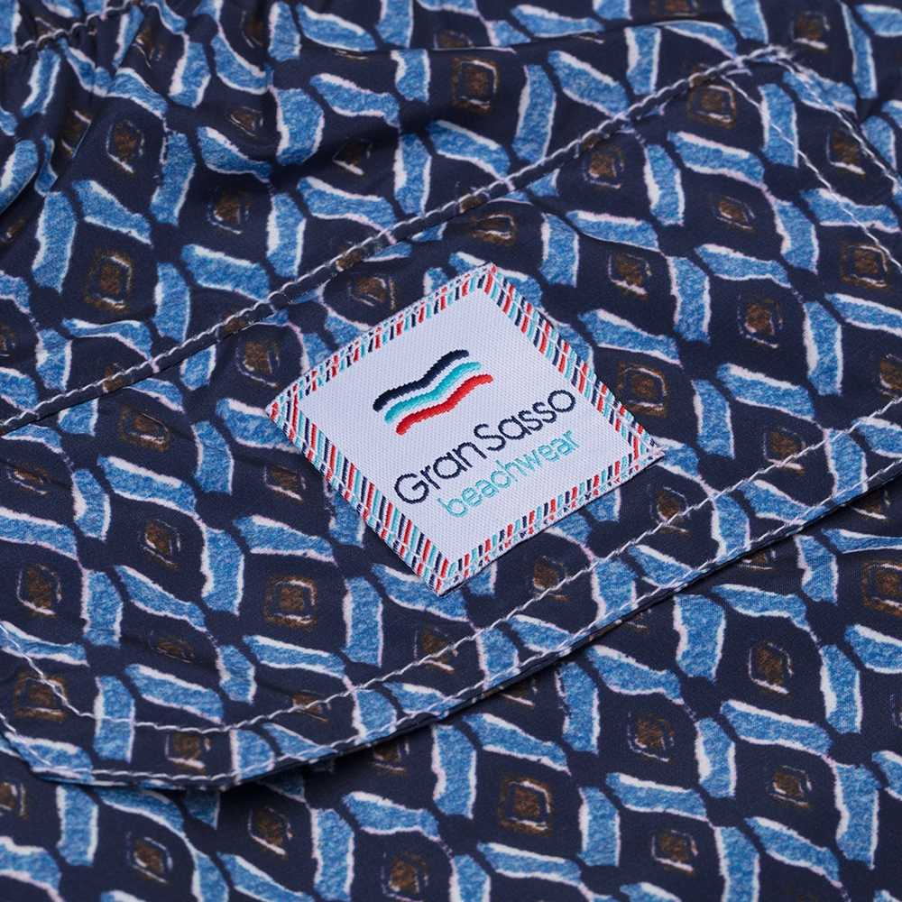 Gran Sasso Recycled Microfiber Lacivert Mavi Mayo