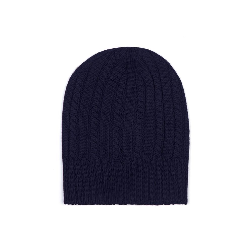 Gran Sasso Su Geçirmez Teflon Korumalı Rain Wool Lacivert Örgü Şapka