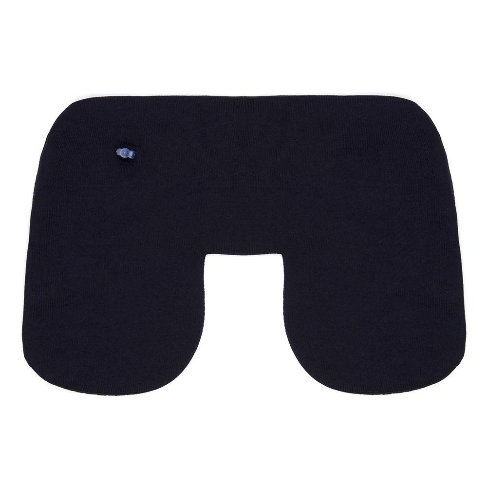 Gran Sasso Travel Kit Yün Örme Lacivert Battaniye Boyun Yastığı Uyku Maskesi Travel Kit