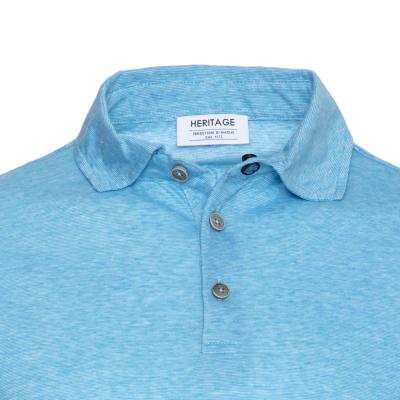Heritage - Heritage Turkuaz Filafil Polo Yaka T-Shirt (1)
