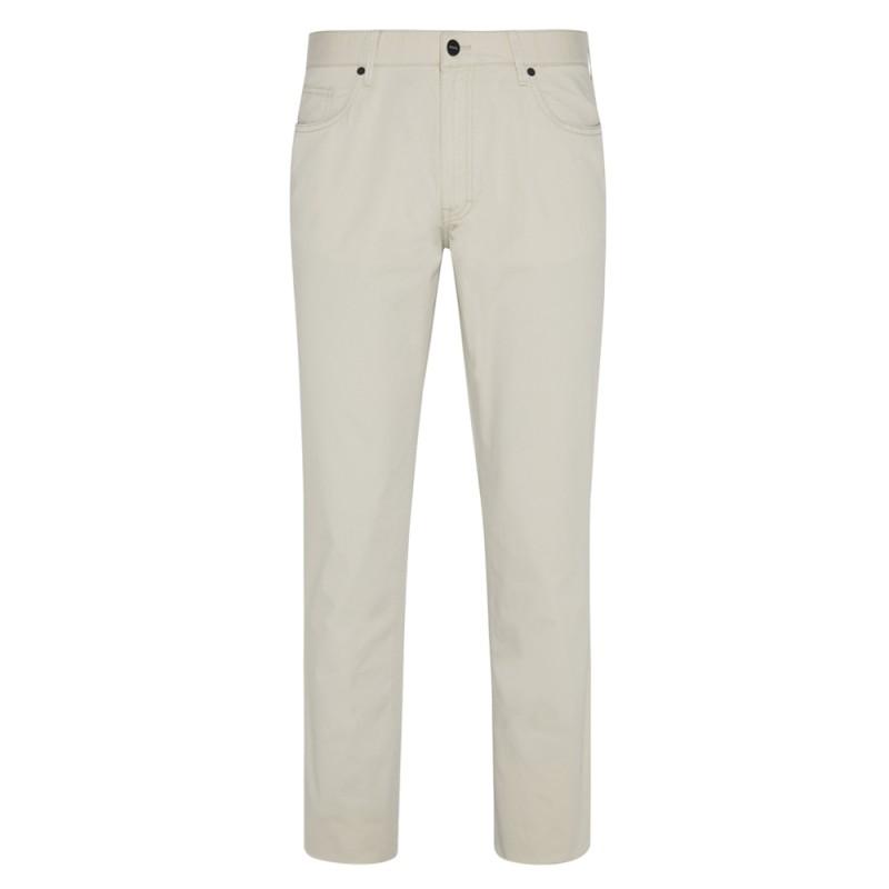 Hiltl - Hiltl 5 Cep Bej Regular Fit Pamuk Elastan Pantolon