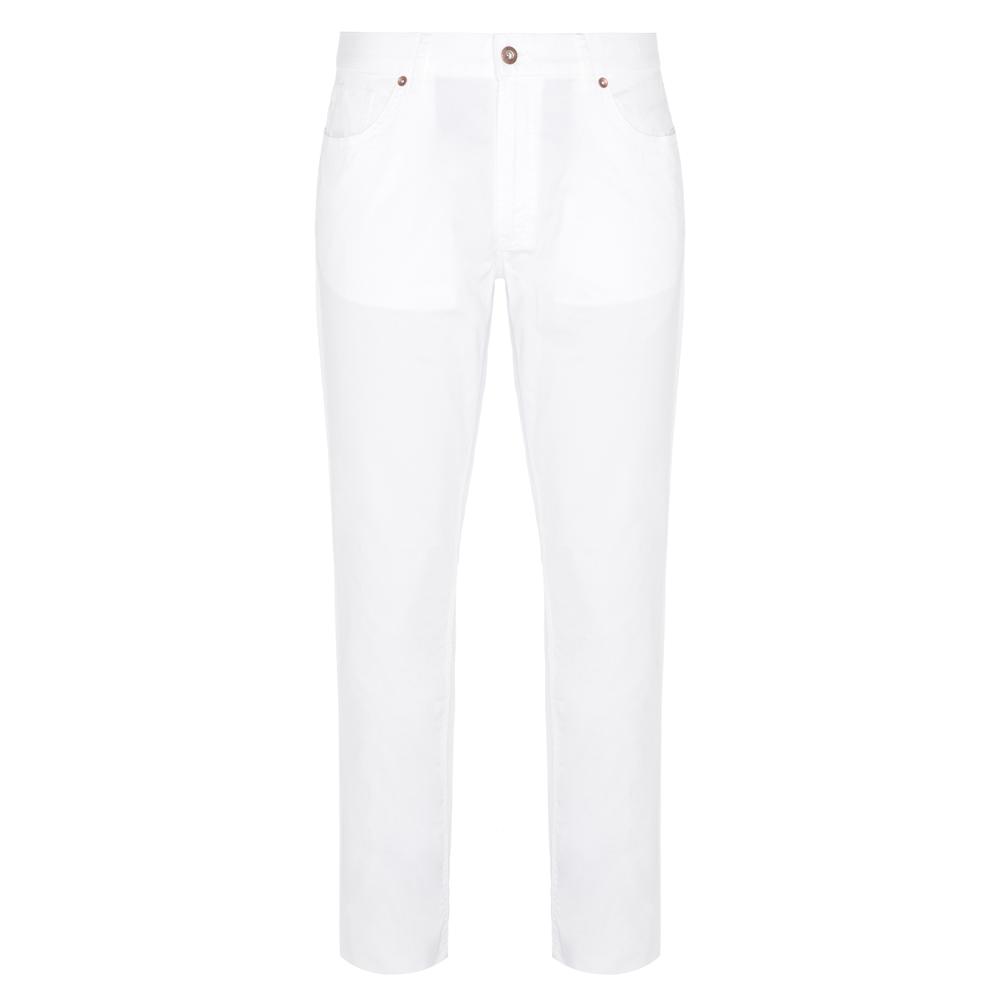 Hiltl 5 Cep Beyaz Twill Pantolon