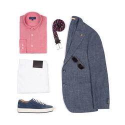 Hiltl 5 Cep Beyaz Twill Pantolon - Thumbnail