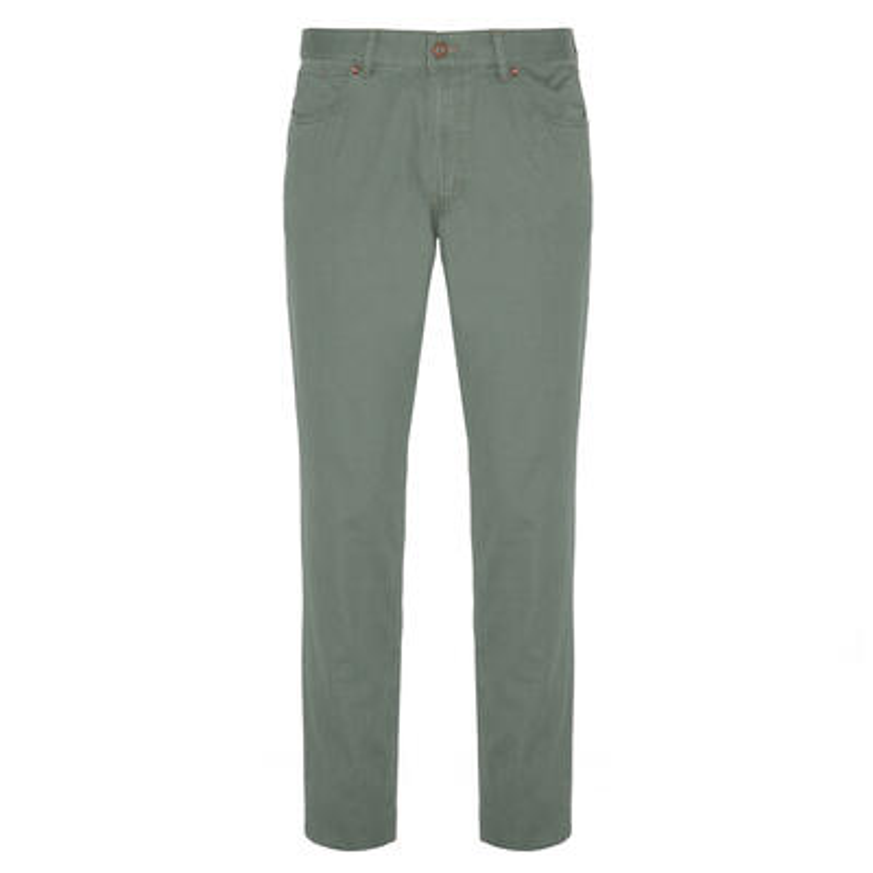 Hiltl - Hiltl 5 Pocket Almond Green Trousers