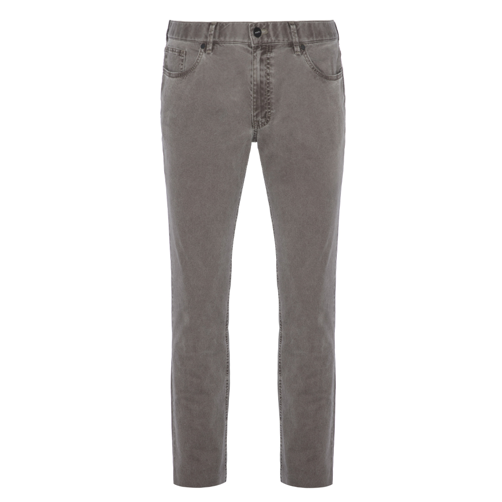 Hiltl 5-Cep Dokulu - Gri Pamuk Pantolon