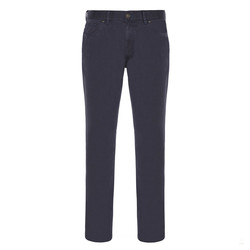 Hiltl - Hiltl 5 Cep Fade Out Yıkamalı Lacivert Pamuk Pantolon