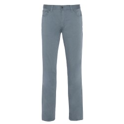 Hiltl - Hiltl 5 Cep Gri Mavi Pamuk Saten Pantolon