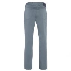 Hiltl - Hiltl 5 Cep Gri Mavi Pamuk Saten Pantolon (1)