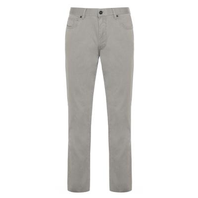 Hiltl - Hiltl 5 Cep İnce Gri Pamuk Elastan Pantolon