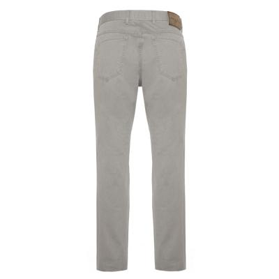 Hiltl - Hiltl 5 Cep İnce Gri Pamuk Elastan Pantolon (1)