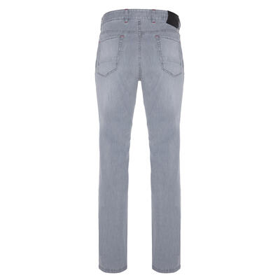 Hiltl - Hiltl 5 Cep İnce Gri Dallas Denim Pantolon (1)