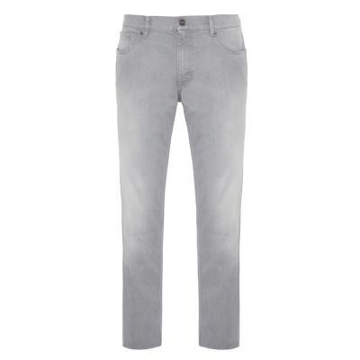 Hiltl - Hiltl 5 Cep İnce Gri Denim Pamuk Elastan Pantolon