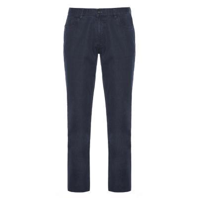 Hiltl - Hiltl 5 Cep İnce Lacivert Pamuk Elastan Pantolon
